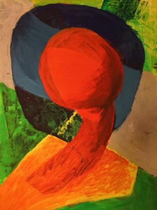 rot, blau, grün, orange Gemälde